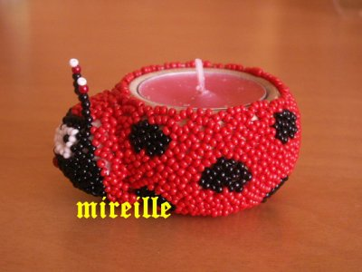 Cache bougie coccinelle