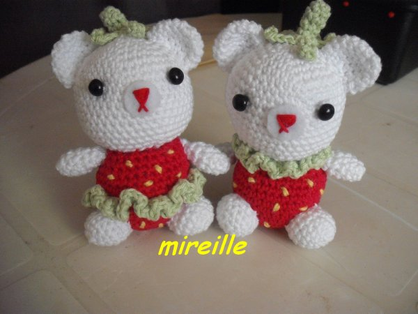 2 Oursons au crochet