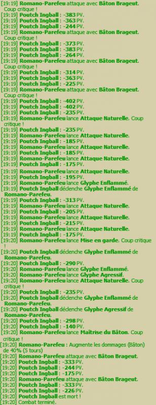 Romano-Parefeu Fecatte niveau 197 (Plus pour longtemps)