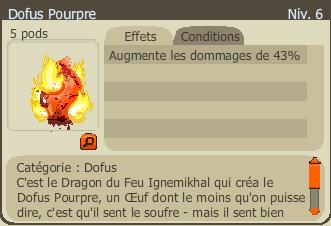 Commande Dofus Pourpre & mon Super Glouragan