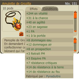 Amulette et Bottes Grozilla