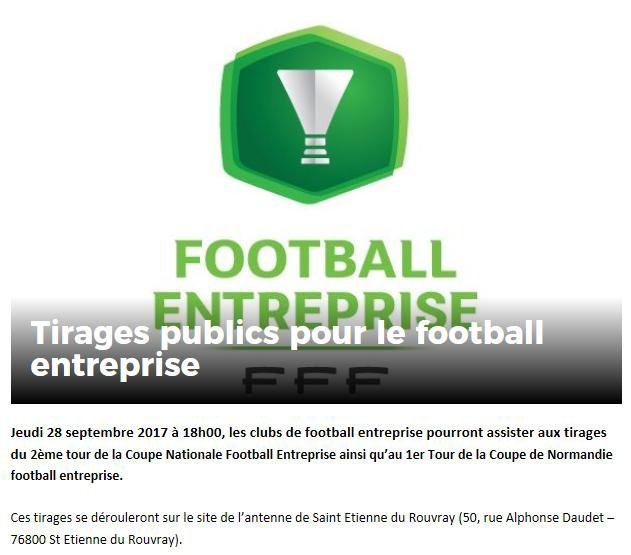 2017 - Tirage au sort Football Entreprise