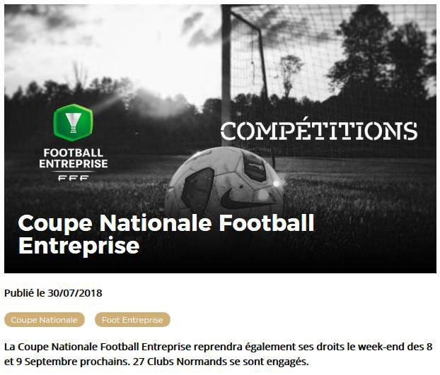 2018 - COUPE NATIONALE - 2018/2019 - 1ER TOUR