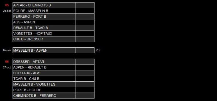 2018 - Match du Samedi 13 Octobre 2018