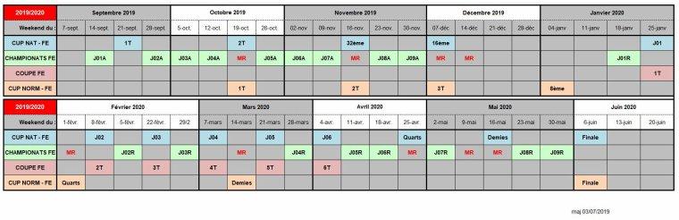 2019 - Début Saison 2019/2020