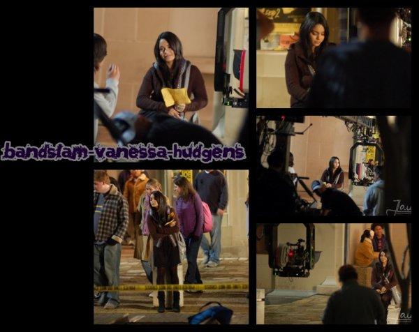 Vanessa Hudgens en tournage de Band Slam