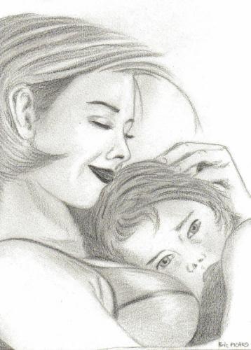 Une maman et son enfant