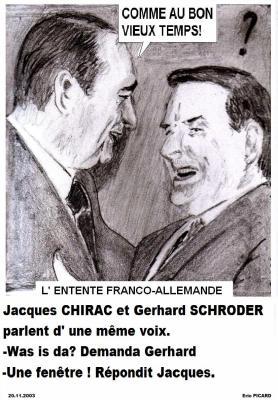L'amitié franco-allemande se portait bien . Z Magazine s' y trouvait . Le 20 novembre 2003...