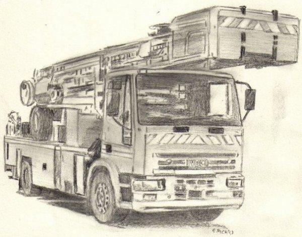 Pompier du bout de mes doigts le monde de l 39 art n 39 est pas - Camion de pompier a dessiner ...