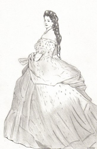 Robe du bout de mes doigts le monde de l 39 art n 39 est pas - Dessin de robe de princesse ...