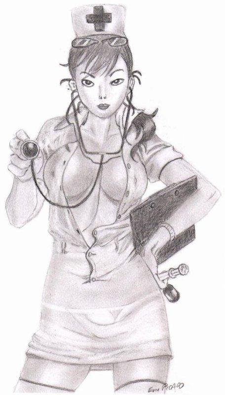 Infirmière : Attention à vos fesses !