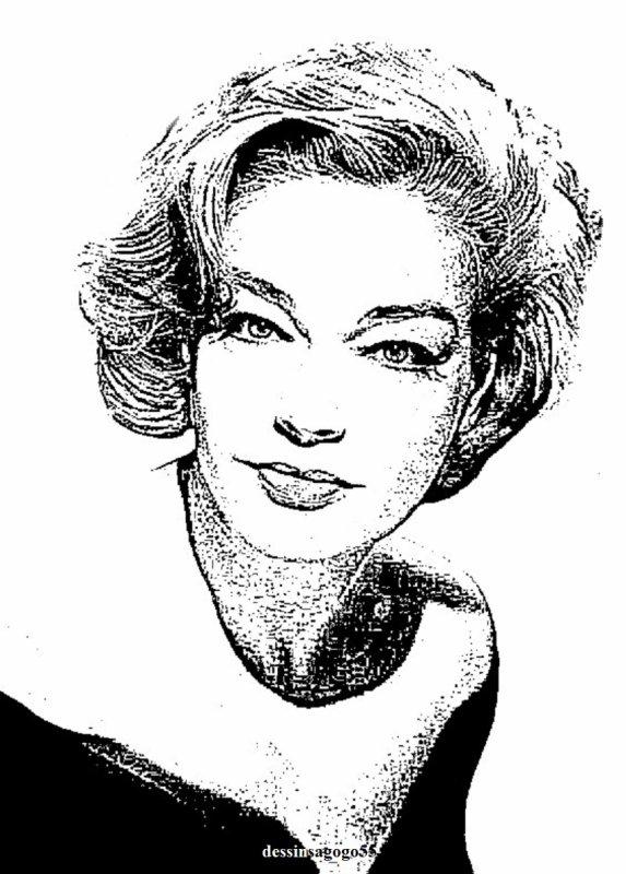 Simone Signoret : dessinsagogo55