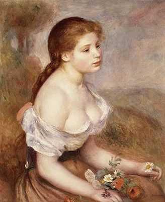 Auguste Renoir : Fille aux paquerettes