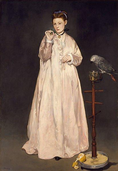 Édouard Manet (La femme au perroquet)