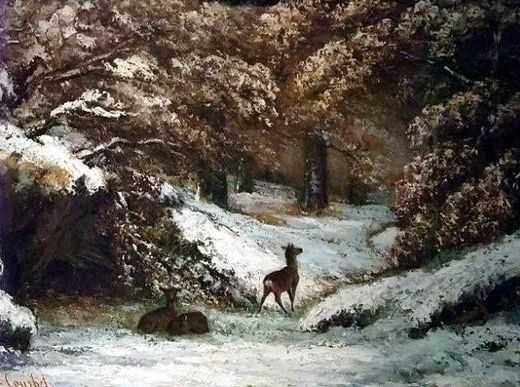 Gustave Courbet (la remise des chevreuils en hiver)
