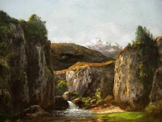 Gustave Courbet (paysage avec source)