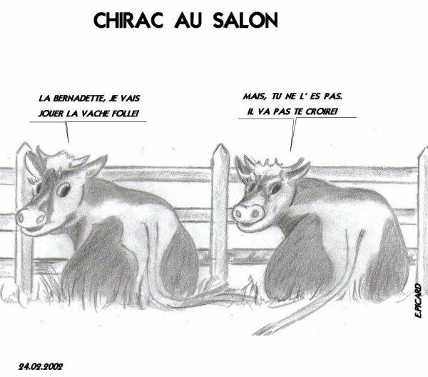 Jacques Chirac au salon de : Z Magazine