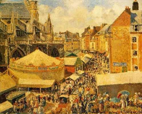 Camille Pissaro : La foire à Dieppe