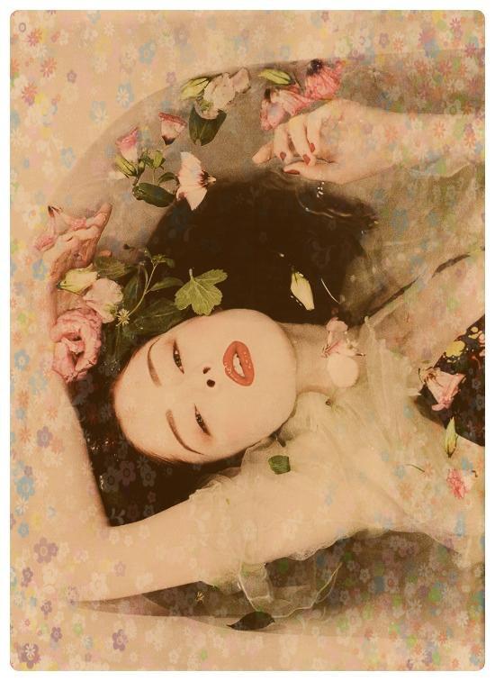 femme : Un joli bouquet