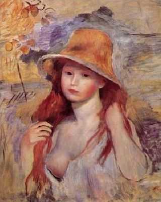 Auguste Renoir : Fille au chapeau de paille