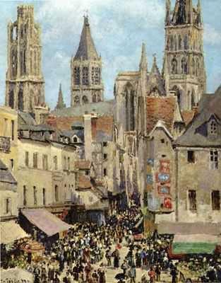 Camille Pissaro : Le vieux marche de Rouen