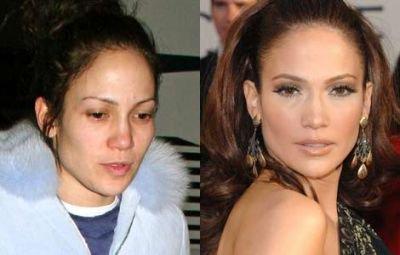 Jennifer Lopez : avec ou sans maquillage ? ? ?