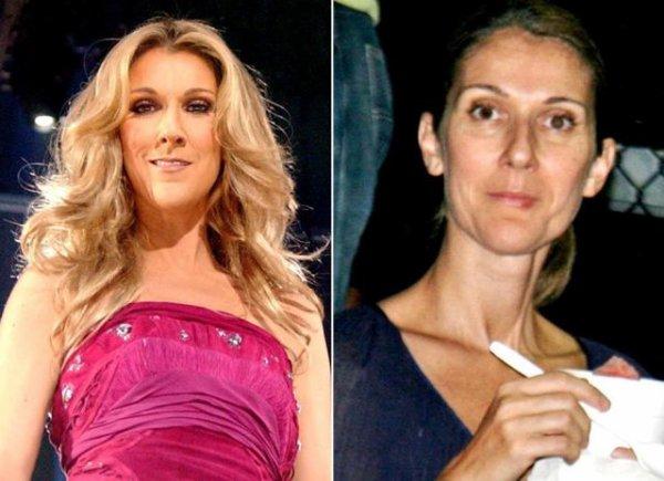 Céline Dion : avec ou sans maquillage ? ? ?