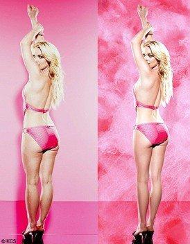 Brithney Spears avec et sans retouches