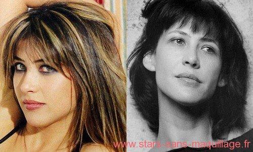 Sophie Marceau avec ou sans maquillage . . .