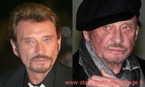 Johnny Hallyday avec ou sans maquillage . .  .