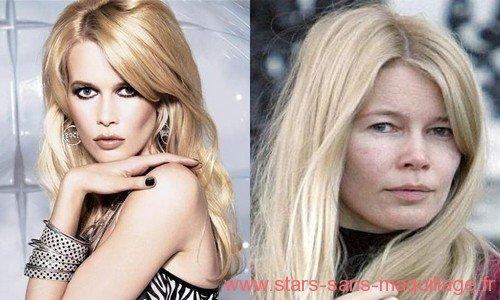 Claudia Schiffer avec ou sans maquillage . .  .
