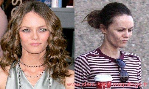 Vanessa Paradis avec ou sans maquillage . .  .