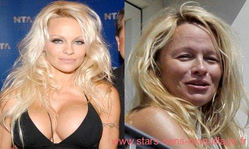 Pamela Anderson avec ou sans maquillage . . .