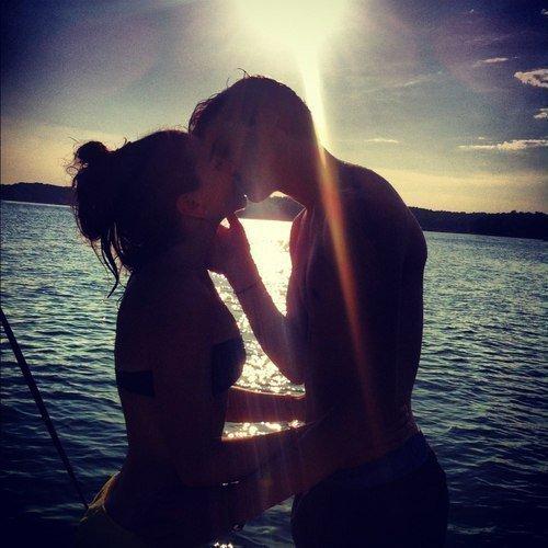 Couple : Coucher de soleil