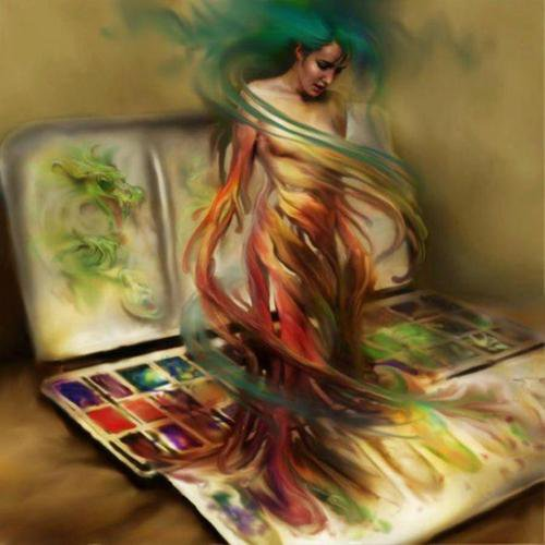 Peinture : Image insolite
