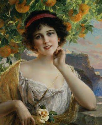 Emile Vernon : Beauty Under the Orange Tree