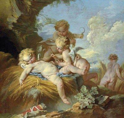 François Boucher : L'Amour moissonneur