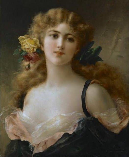 Emile Vernon : Portrait de jeune fille
