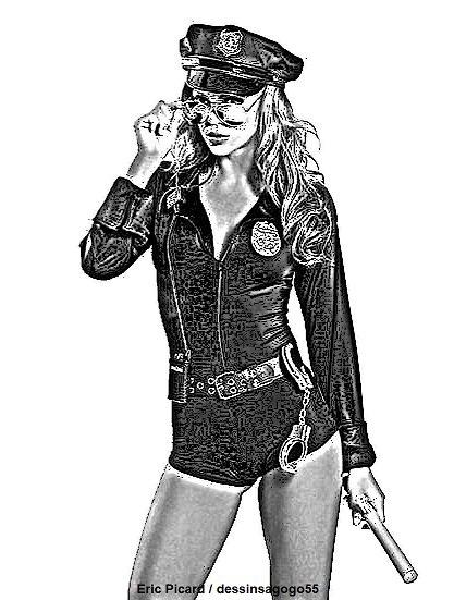 Policière : dessinsagogo55
