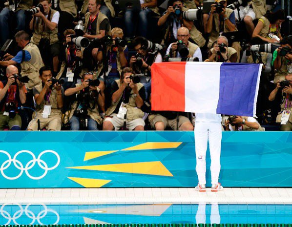 Yannick Agnel médaille d'or 100 m