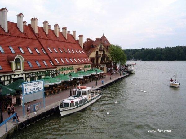 Pologne : Le quai de Mikołajki