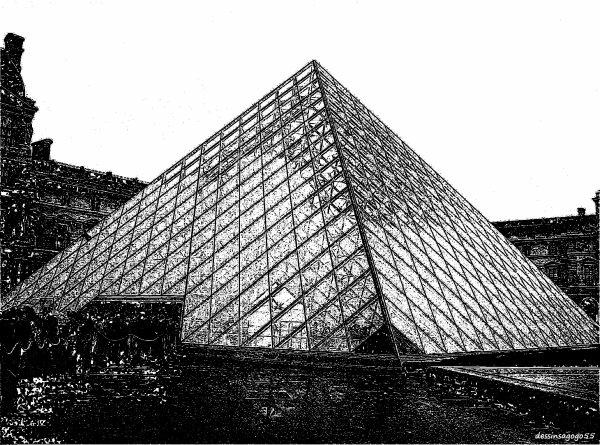 Pyramide du Louvre : dessinsagogo55