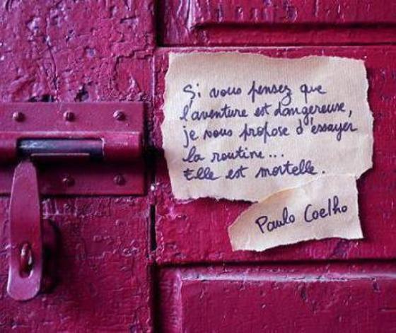 Paulo Coelho : Aventure , routine ?