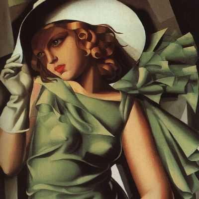Tamara de Lempicka : Jeune femme à la robe verte