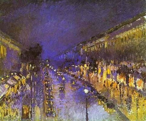 Camille Pissaro : Boulevard Montmartre. Effet de nuit