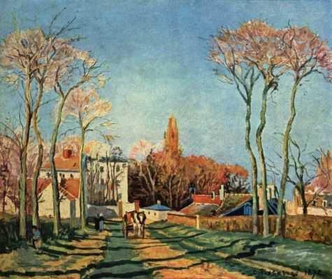 Camille Pissaro : Entree du village de voisins