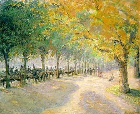Camille Pissaro : Hyde Park Londres.