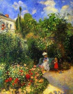 Camille Pissaro : Jardin à Pontoise