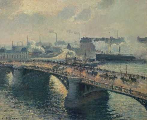 Camille Pissaro : Le pont Boieldieu à Rouen