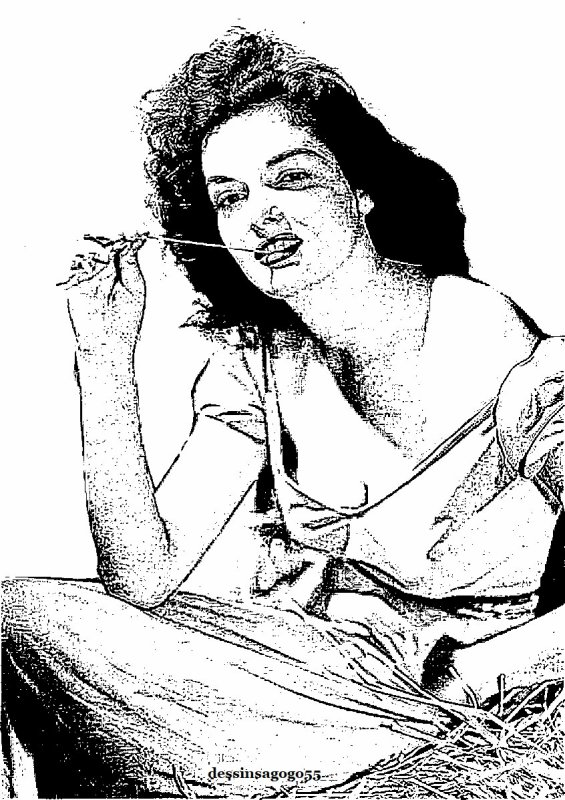 Jane Russell : dessinsagogo55